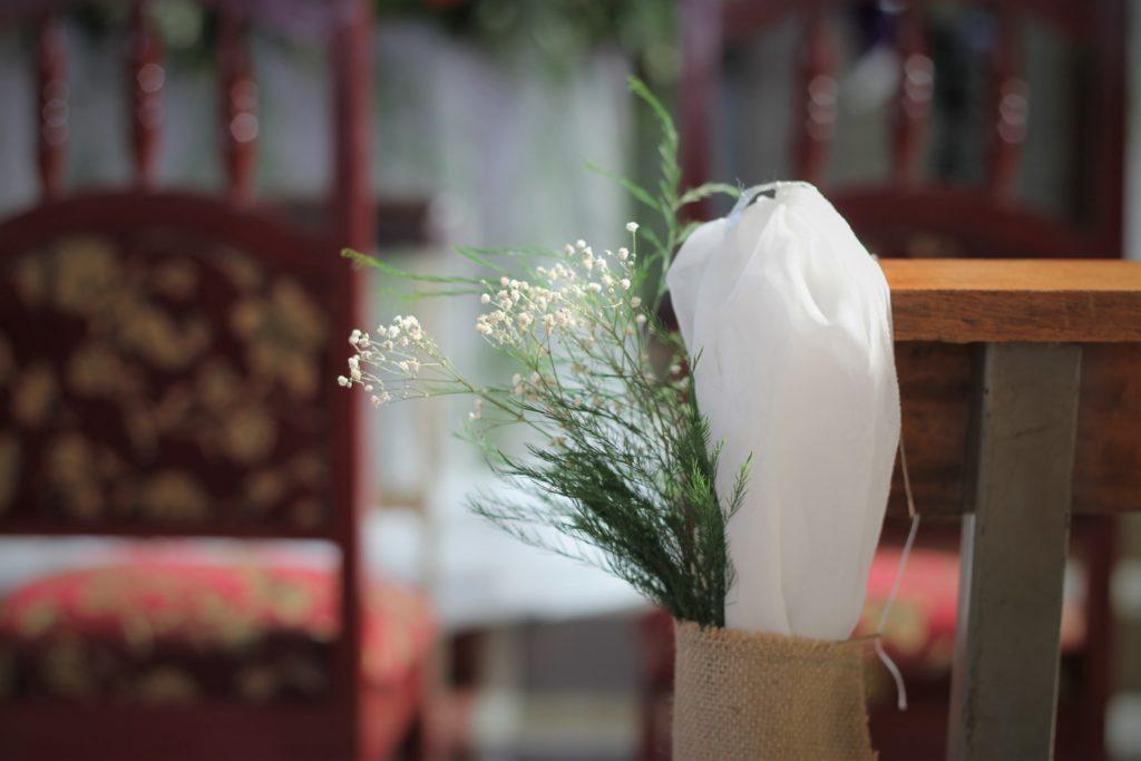 fotografía Santa Ana evento boda decoración recepción adorno iglesia El Carmen
