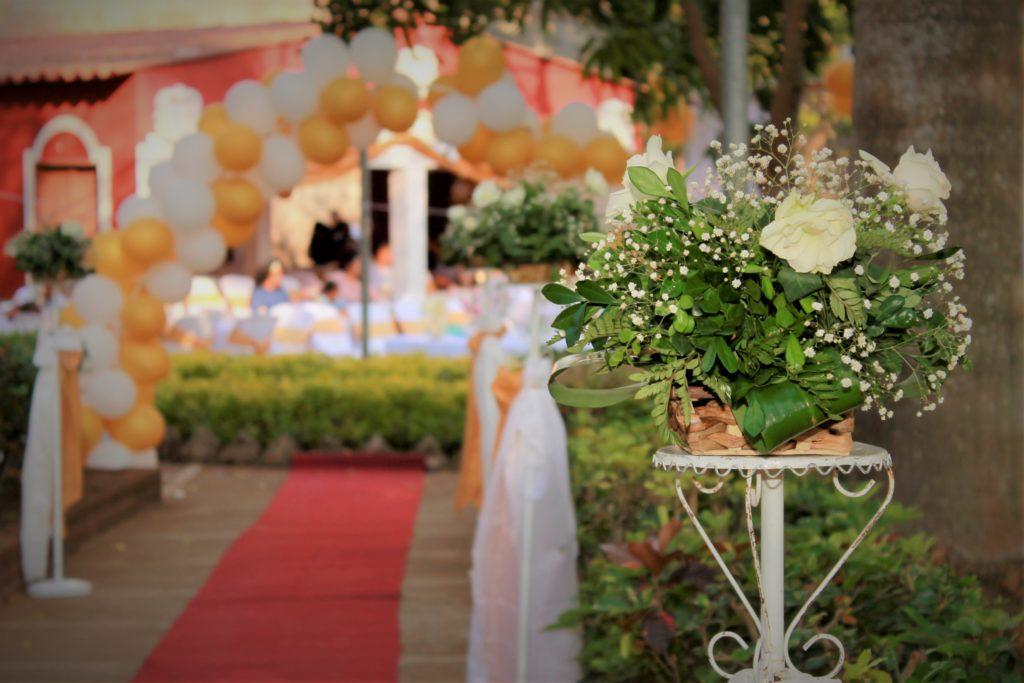fotografía Santa Ana evento boda decoración adorno flores