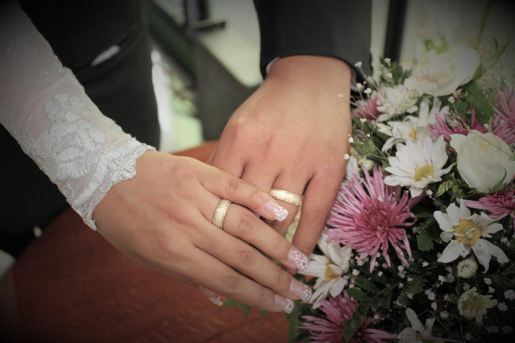 Anillos de boda en pareja