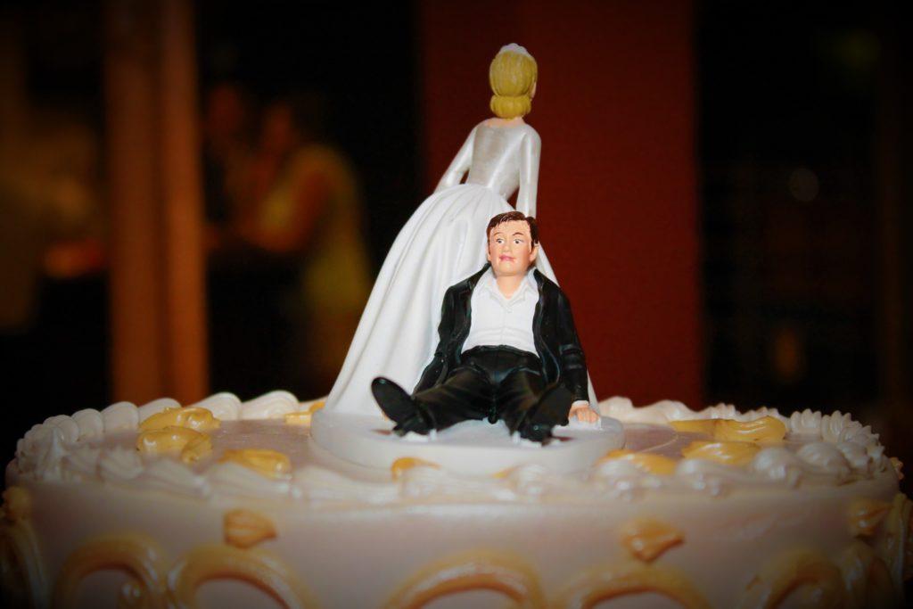 Decoración pastel de bodas