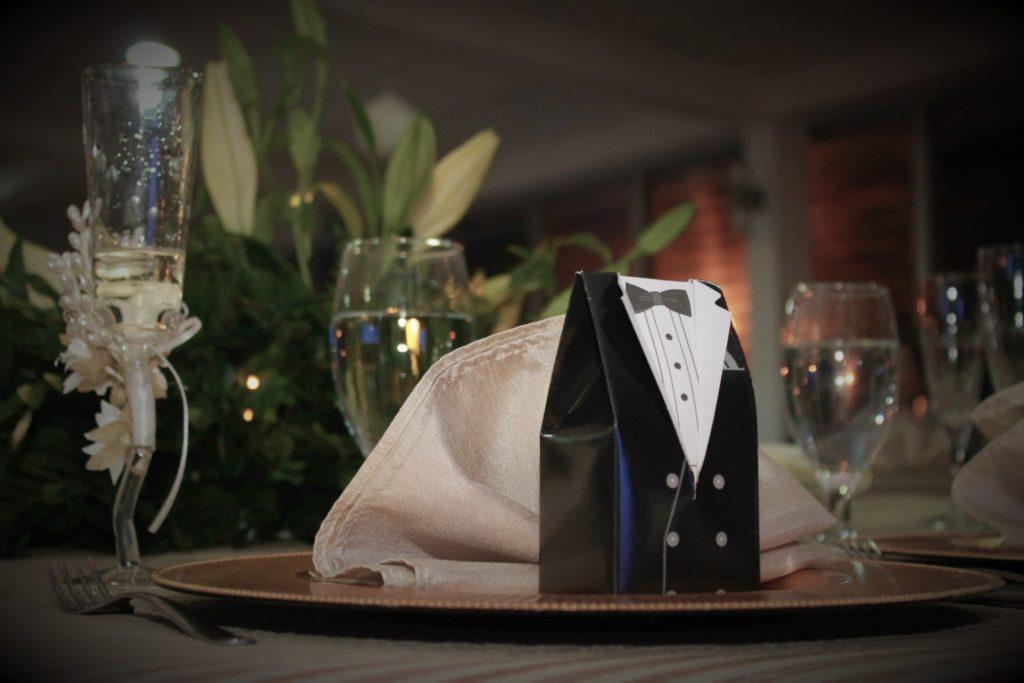Recuerdo de mesa para bodas
