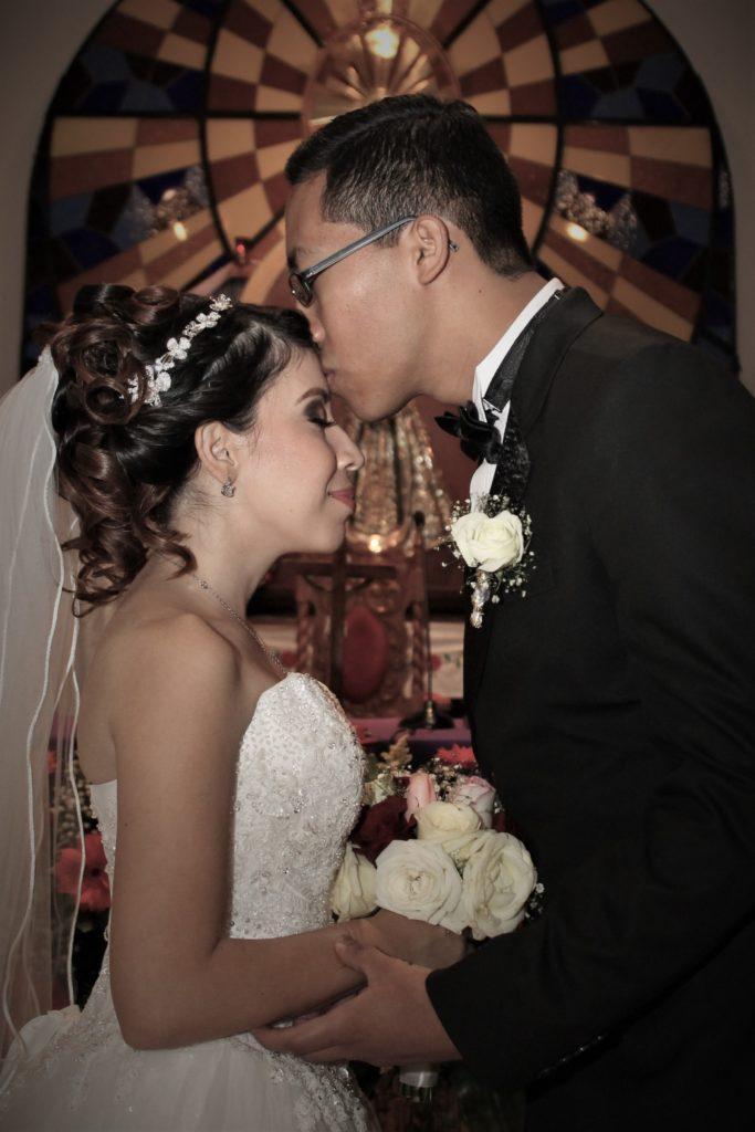 Fotografía de pareja en boda El Palmar