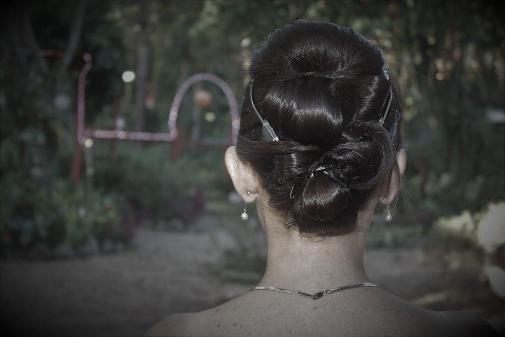 Peinado novia de boda apaneca